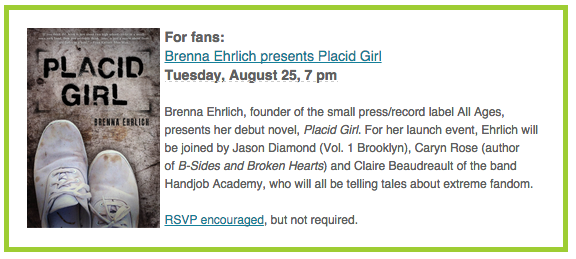 PLACID GIRL launch at WORD!
